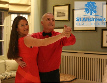 Nick Moore shows off his moves before Strictly Northampton dance extravanganza