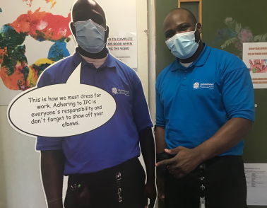 Life-size cardboard cut-out helps one ward at St Andrew's keep Covid at bay